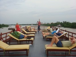 Le Cochinchine cruise - Sundeck